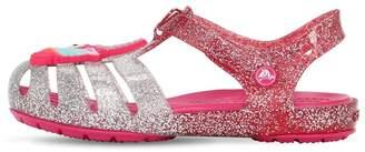 Crocs Unicorn Glittered Rubber Sandals