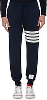 Thom Browne Men's Block-Striped Cotton Sweatpants-NAVY