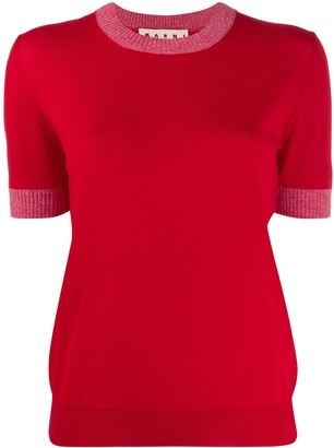 Marni knitted slim-fit top