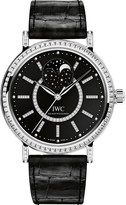 IWC IW459004 Portofino alligator-leather and diamond watch