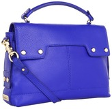 Botkier Kent Shoulder (Purple Blue Cowhide/Satin Brass) - Bags and Luggage