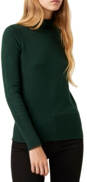 French Connection Mock-Neck Knit Sweater