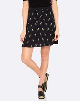 Oxford Anna Bird Print Skirt