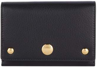 Burberry Leather Fold-Over Wallet