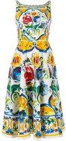 Dolce & Gabbana Maoilica Print Sleeveless Dress