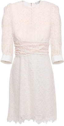 Sandro Nini Cotton-blend Corded Lace Mini Dress