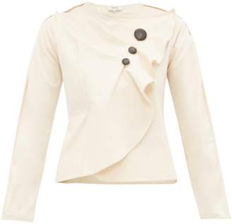Sea Scout Gathered Cotton-blend Top - Womens - Cream