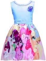 LEMONBABY My Little Pony Sleeveless Princess Birthday Party Dress