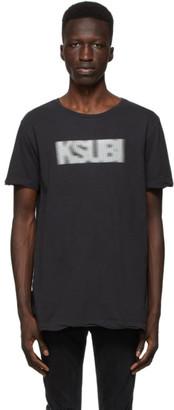 Ksubi Black Bitmap T-Shirt