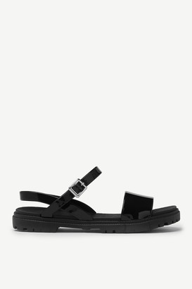 Ardene Rubber and Jelly Ankle Sandals