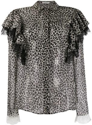 Philosophy di Lorenzo Serafini cheetah print blouse