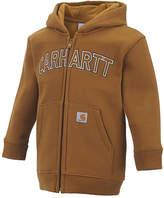 Carhartt Brown Logo Zip-Up Hoodie - Infant & Toddler