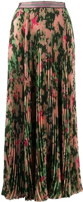 Mr & Mrs Italy Camo Print Pleated Skirt