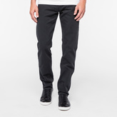 Paul Smith Men's Tapered-Fit Garment-Dyed Slate Grey Jeans