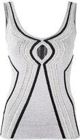 Proenza Schouler cutout knitted vest top - women - Silk/Polyamide/Polyester/Rayon - M