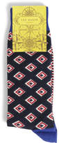 Ted Baker Geometric Diamond Organic Sock