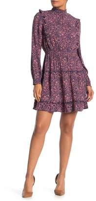 Susina Smocked Neck Tiered Dress