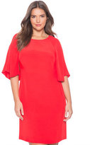 ELOQUII Plus Size Cape Sleeve Dress