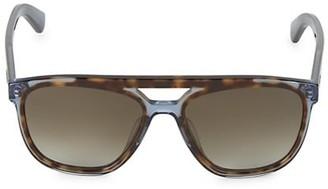 Salvatore Ferragamo Hi-Tech 57MM Brow Bar Square Sunglasses