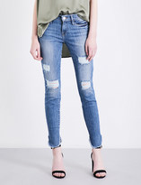 Frame Le skinny de jeanne skinny distressed mid-rise jeans