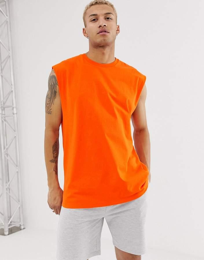 a77b015584540 Longline Sleeveless Tshirt Men - ShopStyle UK