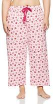 Evans Women's Kisses Print Pyjama Bottoms,(Manufacturer Size:/20)