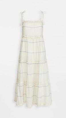 Tory Burch Long Ruffle Dress