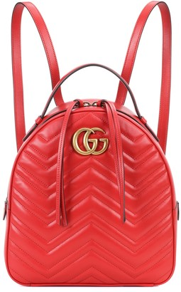 Gucci GG Marmont matelassA leather backpack