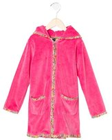 Oscar de la Renta Girls' Zip-Up Robe
