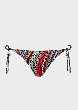 Paul Smith Women's 'Leopard & Swirl' Print Tie-Side Bikini Bottoms
