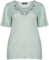 Via Appia Plus Size Cotton sequin t-shirt