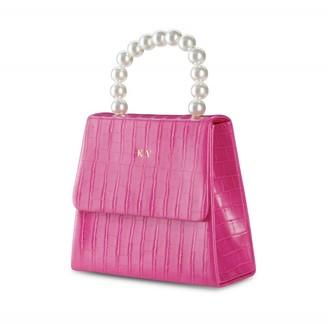 ThreeSixFive Vegan Leather Pearl Drop Handbag