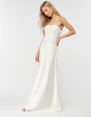 Under Armour Jane Satin Bridal Maxi Skirt Ivory
