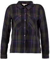 Tom Tailor CROPPED BASIC CHECK Shirt green