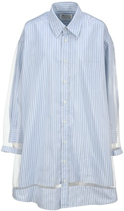 Maison Margiela Panelled Pinstripe Shirt Dress