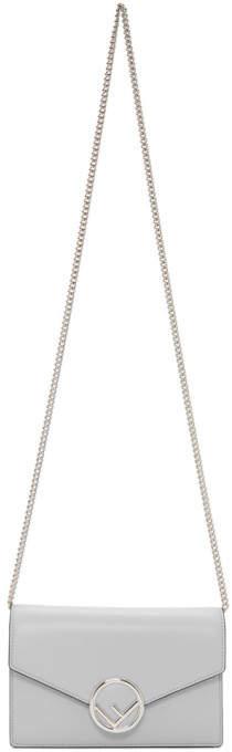 Fendi Blue F is Chain Wallet Bag