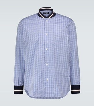Comme des Garçons Homme Checked shirt with ribbed trims