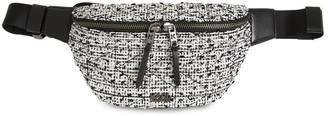 Karl Lagerfeld Paris Tweed & Leather Belt Bag
