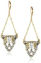 Yochi Gold-Plated Crystal Art Deco Earrings