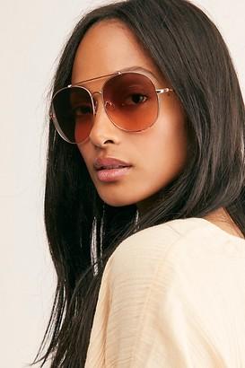 Free People Sundown Oversized Aviator Sunglasses