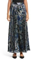 Christopher Kane Women's Pleated Lame Maxi Skirt