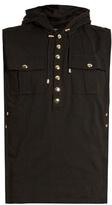 Balmain Sleeveless Cotton-jersey Hooded Tank Top