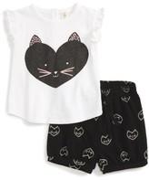 Tucker + Tate Infant Girl's Graphic Tee & Shorts Set