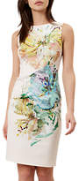 Hobbs Priscilla Floral Dress, Latte Beige Multi