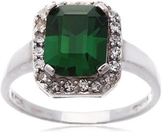 Bliss Swarovski Crystal Emerald Cut Ring 6