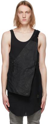 Boris Bidjan Saberi Black Leather Bag 1.1 Vest