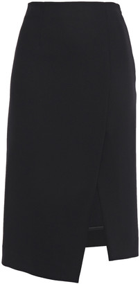 Maje Asymmetric Split-front Twill Skirt