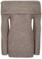 Topshop Soft oversized bardot jumper