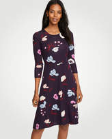 Ann Taylor Botanical Tulip Circle Cut Flare Dress