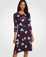 Ann Taylor Petite Botanical Tulip Circle Cut Flare Dress